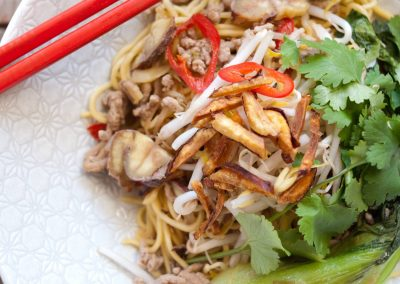 Chestnut and Pork Noodles