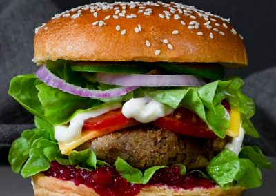 Plant-Based Chestnut Burger