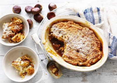 Chestnut & golden syrup pudding